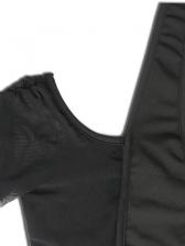 Cold Shoulder Draped Gauze Ladies Blouse