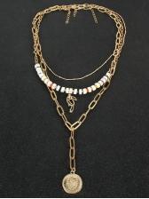 Fashion Animal Leaves Layered Necklace