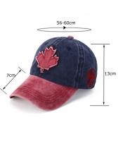 Maple Leaf Contrast Color Baseball Cap