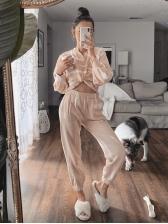 Home loungewear Long Sleeve Two Piece Pants Set