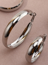 Fashion Solid Round Design Earrings Set