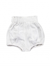 Pure Color Elastic Waist Baby Shorts