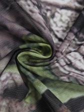 Leaves Print Long Sleeve Bodysuit Two Piece Pants Set