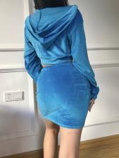 Sexy Crop Top And High Waisted Skirt Set