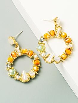 Street Snap Round Geometry Women Earrings