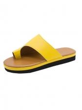Beach Round Open Toe Ladies Slippers