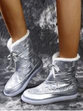 Hot Sale Faux Fur Patchwork Snow Boots
