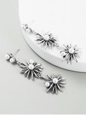 Vintage National Style Faux-Pearl Earrings