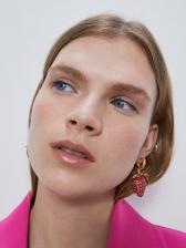 Fashion Fruit Rhinestone Strawberry Earrings