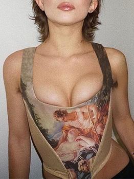 Fashion Angel Printed Sleeveless Tank Top
