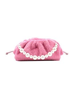 Trendy Plush Dating Faux-Pearl Shoulder Bag