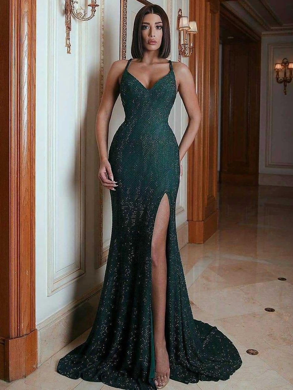 Sexy Camisole Floor Length Evening Dresses