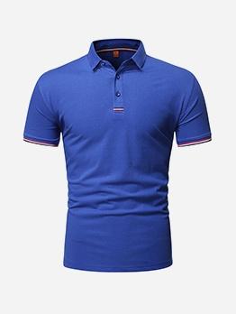 New Short Sleeve Polo Shirt Men