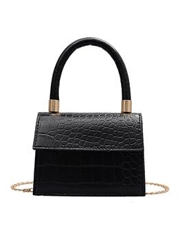 Alligator Pattern Handle Mini Chain Shoulder Bag