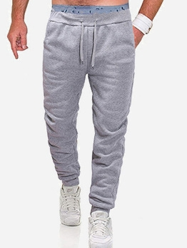 Casual Long Pants Men Fall