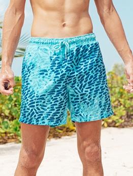 Contrast Color Short Pants Men