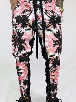 Colorful Print Jogger Pants Men