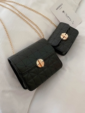 Metal Hasp Candy Color Rhombic Chain Shoulder Bag