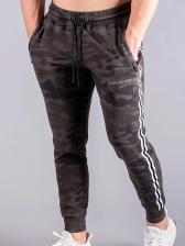 Camouflage Drawstring Track Pants Men