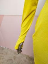 Casual Style High Neck Long Sleeve Bodycon Dress