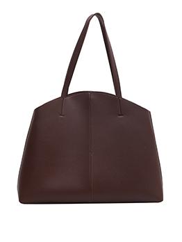 Simple Solid Color Large Capacity Shoulder Tote Bag