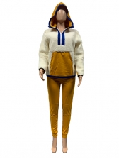 Colorblock Two Piece Cashmere Matching Set For Winter