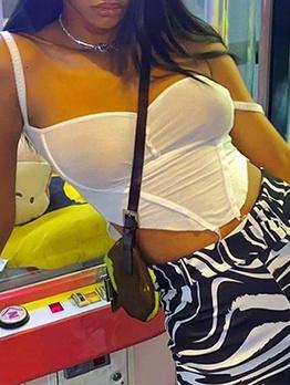 Summer Irregular Hem White Cami Top
