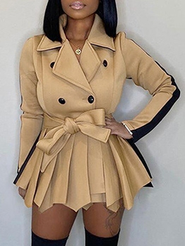 Fashion Solid Thicken Long Sleeve Dress