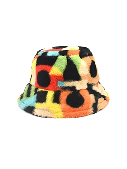 Contrast Color Cute Bucket Hat Fisherman