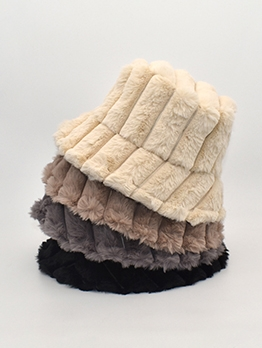 Japanese Style Plush Casual Bucket Cap