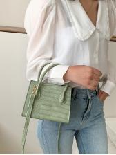 Stone Print Solid Color Handle Shoulder Bags