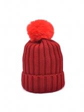 Winter Solid Warmth Women Knitted Beanie