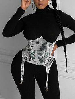 Fashion Dollar Printed Corset Waist Belt