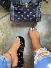 High Platform Clear Upper Womens Slippers