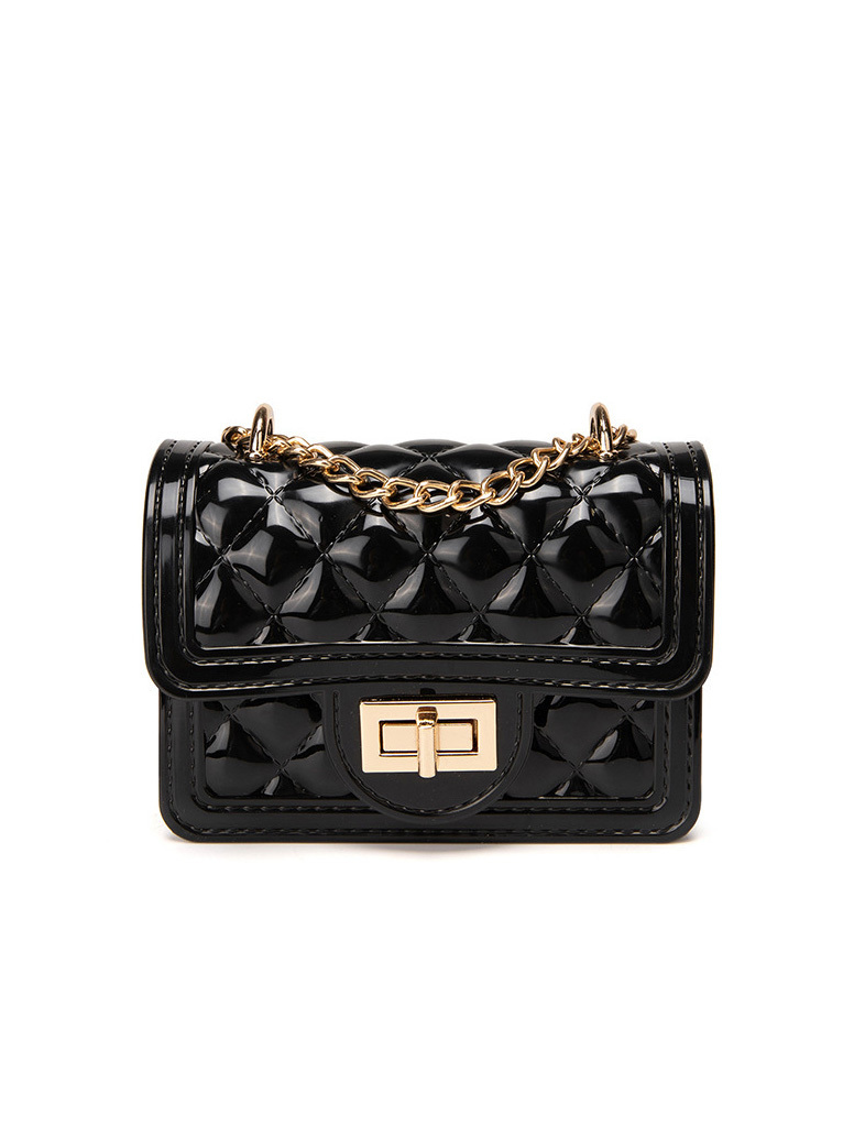 Rhombic Pattern Chain Handle Mini Shoulder Bags