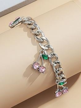 Cherry Pendant Design Women Fashion Bracelet