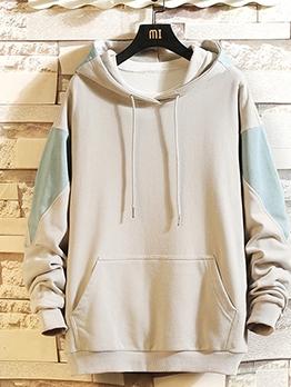 Stylish Color Block Long Sleeve Men Hoodies