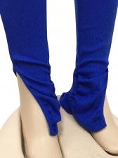 V Neck Ruched Sleeve 2 Piece Pants Set