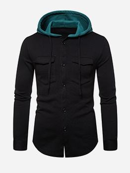 Fashion Button Up Mens Designer Hoodies