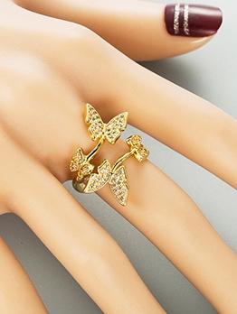 Opening Adjustable Butterfly Zircon Online Ring