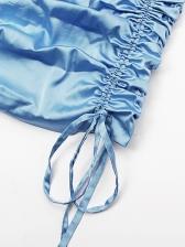 Under-wire Drawstring Ruched Mini Dress