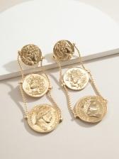 Fashion Round Pendant Earrings For Women