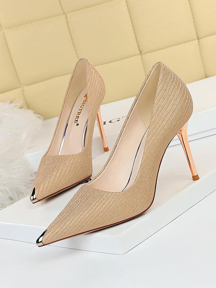 Glitter Pointed Toe Women Pumps Heels