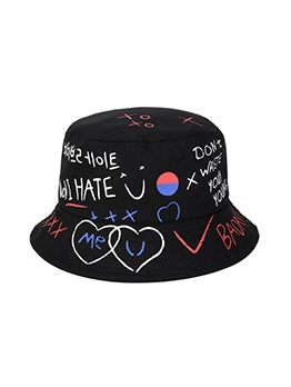 Korea Print Letter Breathable Hat