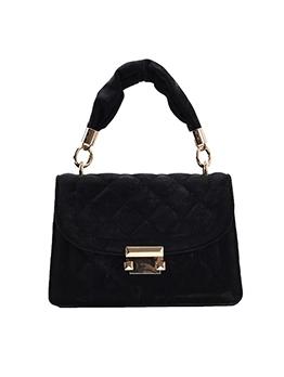 Ruched Handle Rhombus Korean Casual Shoulder Bag
