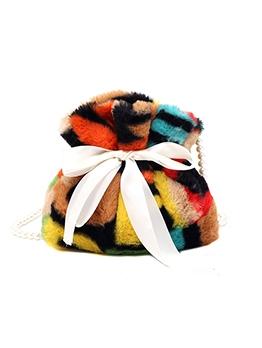 Cute Colourful Sweet Faux-Pearl Chain Shoulder Bag