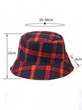 Korea Plaid Fishing Hat Casual