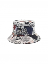 Fashion Print Breathable Fishing Hat