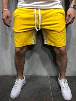 Contrast Color Fitness Short Pants Men