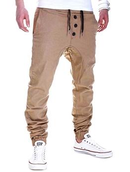 Outdoor Drawstring Track Pants Men